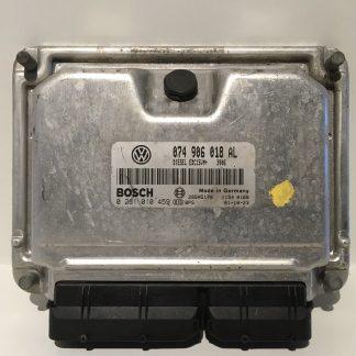 Dit is een ECU met het nummer 074906018AL voor de Volkswagen transporter 2.5TDI uit 2001. Deze ECU is plug/play immo off. Het bosch nummer is 0281010459